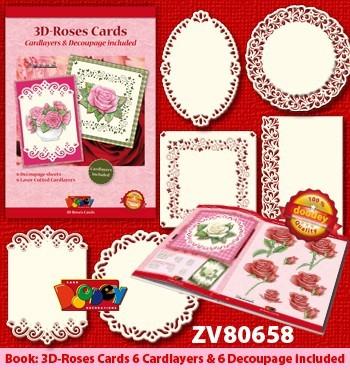 Doodey 3D-kaartenpakket rozen met boekje en oplegkaarten ZV80658 (Locatie: 4533)