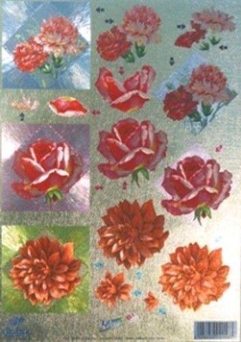 Dufex stansvel metallic bloemen 11179845 (Locatie: 4212)