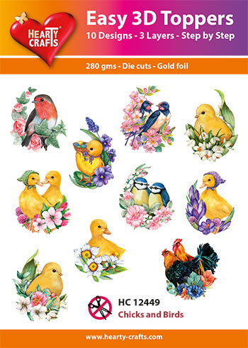 Hearty Crafts Easy 3D Toppers Chicks and Birds HC12449