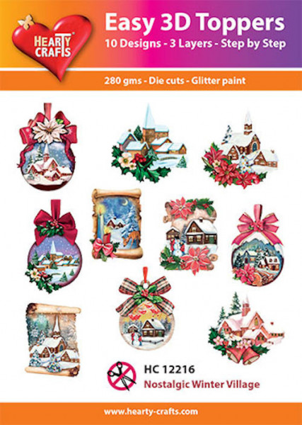 Hearty Crafts Easy 3D Toppers Nostalgic Winter Village HC12216