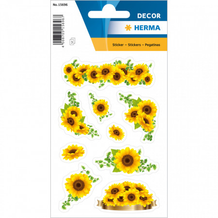 Herma stickers zonnebloemen 3 vel 15696 (Locatie: HE035)