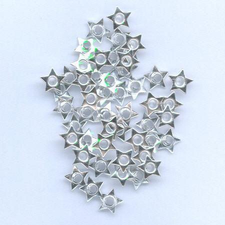 Hobby & Crafting Fun eyelets ster zilver 8mm 50 stuks 12403-4322