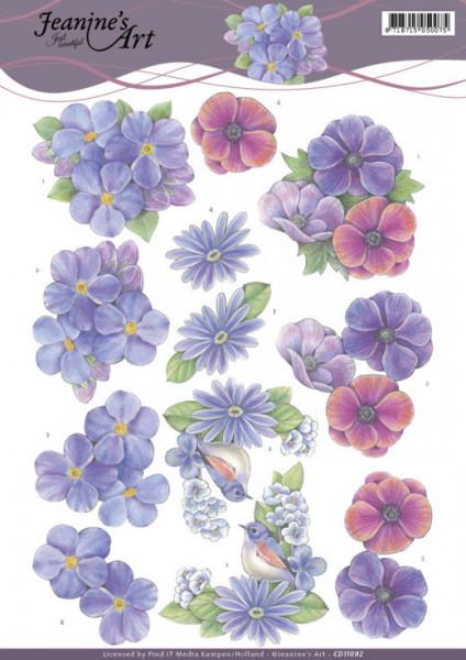 Jeanine's Art knipvel bloemen CD11092 (Locatie: 1577)