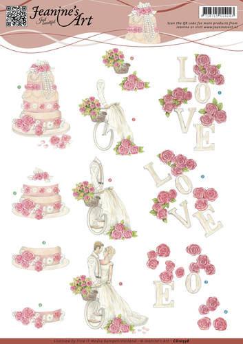 Jeanine's Art knipvel huwelijk CD10598 (Locatie: 0907)