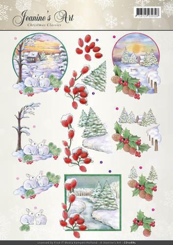 Jeanine's Art knipvel kerstmis CD10885 (Locatie: 2435)