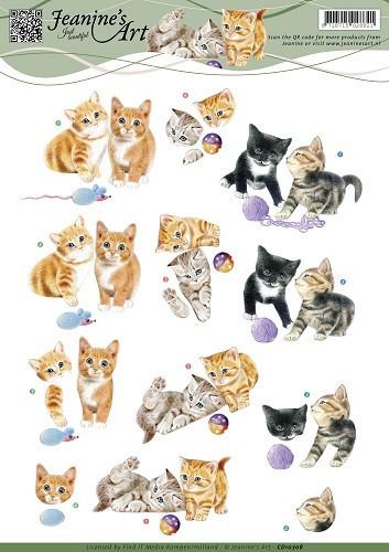 Jeanine's Art knipvel kittens CD10708 (Locatie: 4515)