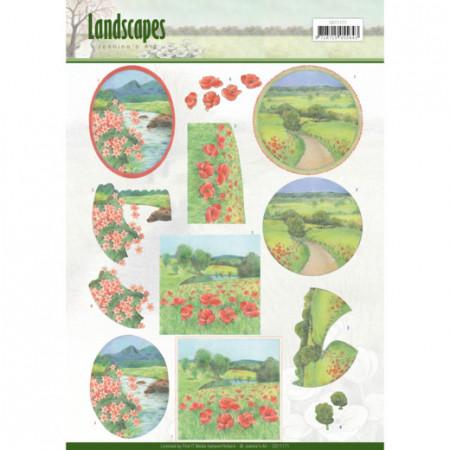 Jeanine's Art knipvel landschap CD11171 (Locatie: 0325)