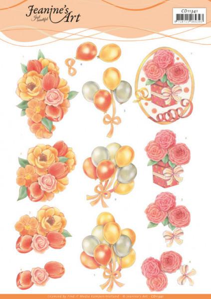 Jeanine's Art knipvel verjaardag CD11341 (Locatie: 1585)