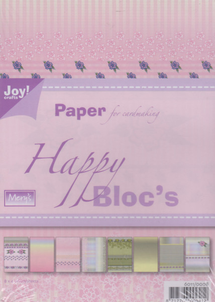 Joy Crafts, Happy bloc's, 32 vellen 8 designs 6011/0008