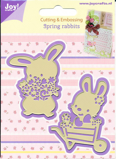 Joy! Crafts snij- embosmal Spring rabbits 6002/0436 (Locatie: M004)