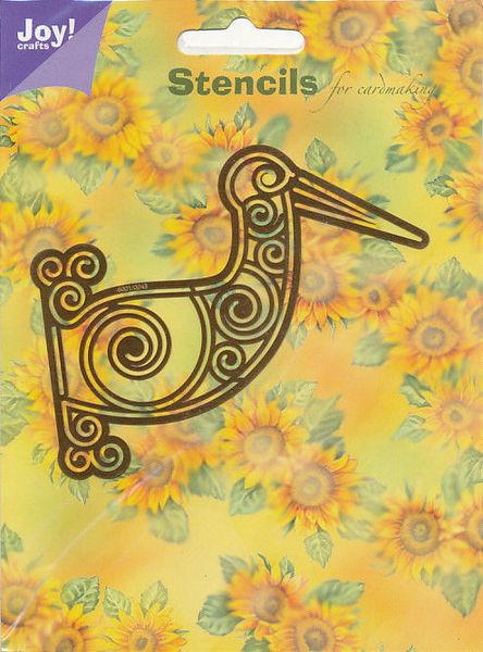 Joy! Crafts snij- en embosmal uithangbord ooievaar 6001/0043 (Locatie: J036)
