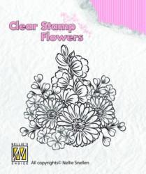 Nellie Snellen Clear Stamp flowers FLO010 (Locatie: nn264)