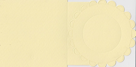 Romak bloem, vierkante kaart, lichtgeel (Locatie: hh072)