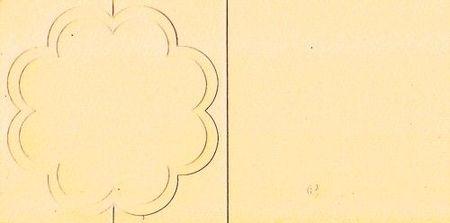 Romak bloemkaart geel zig zag K1 333 67 (Locatie: NN190 )