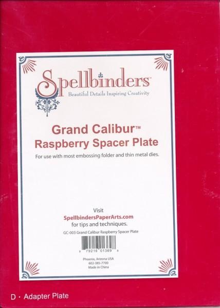 Spellbinders Calibur Raspberry Spacer Plate GC-003 (Locatie: 1RN4 )