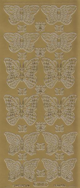 Starform sticker goud vlinders 1013 (Locatie: Q161)