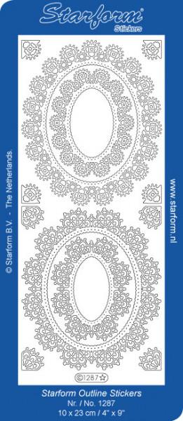 Starform sticker ornamenten zilver 1287 (Locatie: i466)
