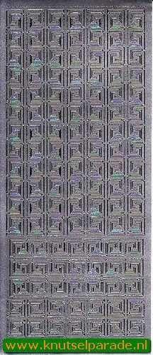 Starform sticker rand zilver 1103 (Locatie: H221)