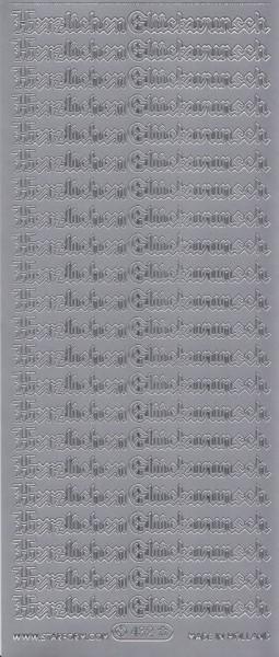 Starform sticker zilver Herzlichen Glückwunsch 432 (Locatie: k083)