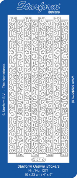 Starform sticker zilver randje 1271 (Locatie: L207)