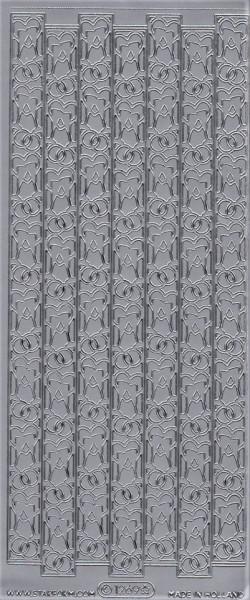 Starform sticker zilver randje huwelijk 1269 (Locatie: A259)