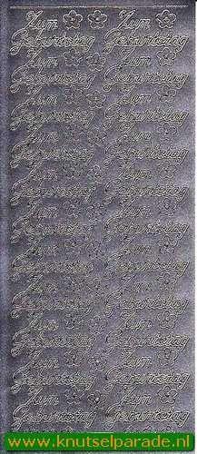 Starform sticker zilver Zum Geburtstag 401 (Locatie: F146 )
