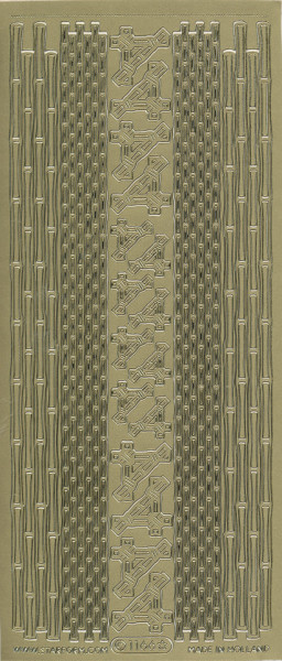 Starform stickervel bamboe goud 1166 (Locatie: u063)