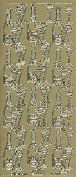 Starform stickervel champagne goud 1068 (Locatie: u210)