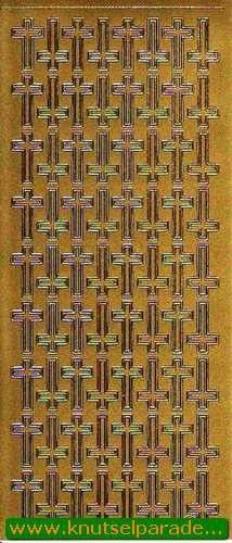 Starform stickervel goud geloof 882 (Locatie: L89)