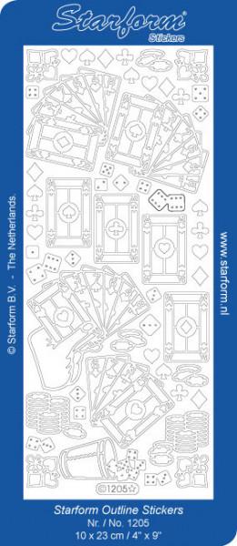 Starform stickervel kaarten zilver 1205 (Locatie: t084)