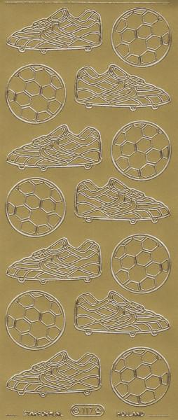 Starform stickervel voetbal goud 117 (Locatie: B021)