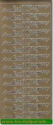 Stickervel goud Bon Anniversaire nr. 4601 (Locatie: E192 )