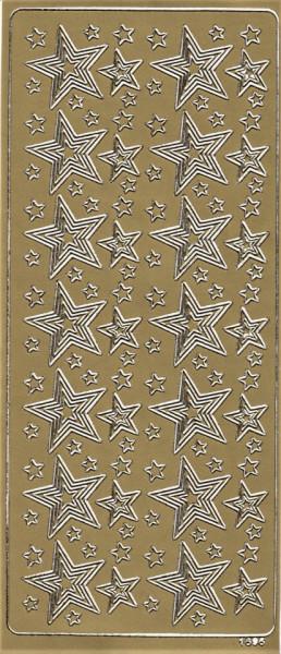 Stickervel goud sterren 1606 (Locatie: u388)