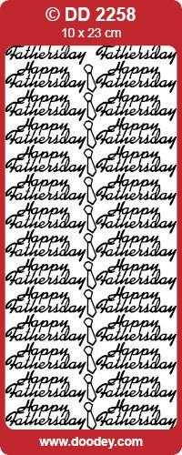 Stickervel Happy Fathersday zilver DD2258 (Locatie: F018)