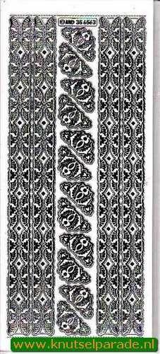 Stickervel hoekjes/rand transparant zilver MD 35 65 63 (Locatie: ZZ028 )