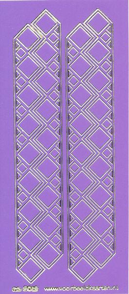 Stickervel paars/goud nr.3012 (Locatie: K174 )