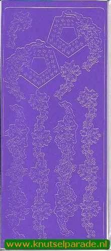 Stickervel paars randjes/ hoekjes 0650 (Locatie: F057 )