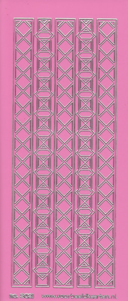 Stickervel roze/zilver nr. 3021 (Locatie: K161)