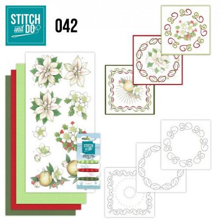 Stitch and Do 42 White Christmas Flowers STD042