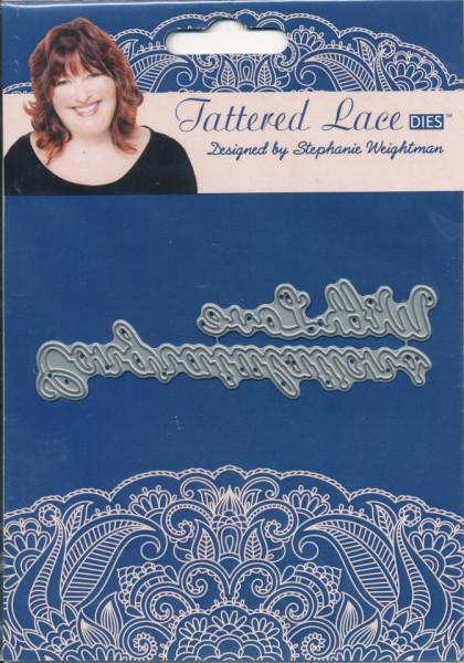 Tattered Lace snij- en embosmallen teksten With Love & Congratulations ACD087