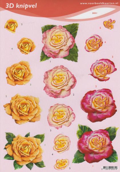 Voorbeeldkaarten knipvel bloemen 2031 (Locatie: 2603)