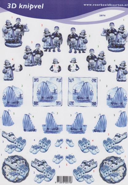 Voorbeeldkaarten knipvel Delftsblauw 2074 (Locatie: 2766)