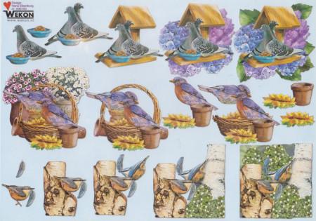 Wekon knipvel vogels A40100 (Locatie: 1706)