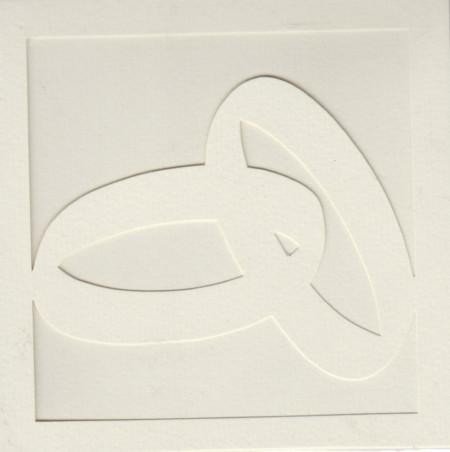 3x vierkante, creme, dubbele, trouwring-kaart, 3x witte envelop (Locatie: gg009)