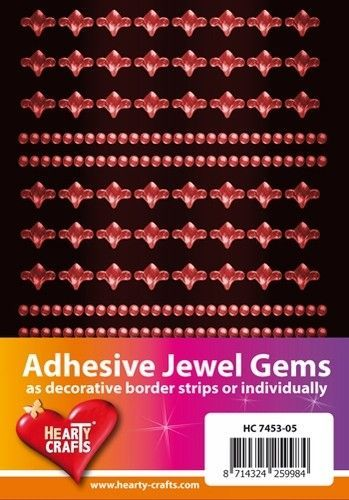 Adhesive Jewel Gems zelfklevende strips oranje HC 7453 05 (Locatie: 1F )