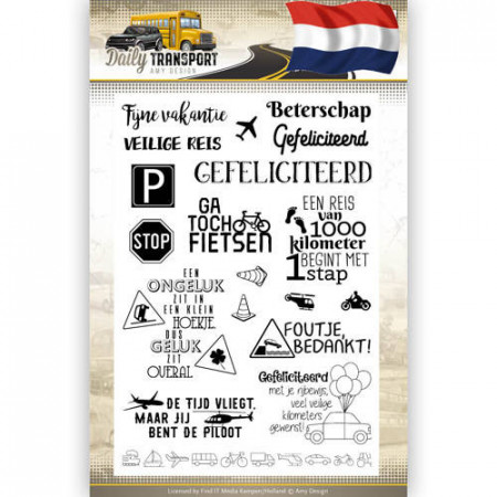 Amy Design Clear Stamp Daily Transport ADCS10036 (Locatie: k127)