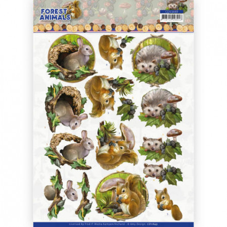 Amy Design knipvel Forest Animals - Rabbit CD11649 (Locatie: 1532)