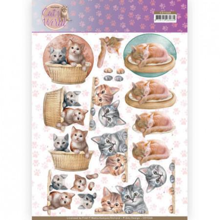 Amy Design knipvel katten CD11368 (Locatie: 2573)