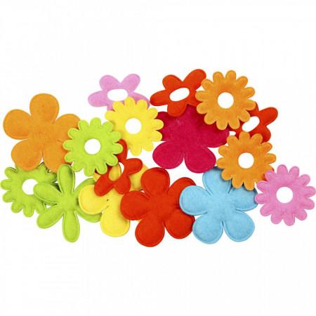 Bloemen van vilt, dikte 1,2 mm, 16stuks (Locatie: K3)