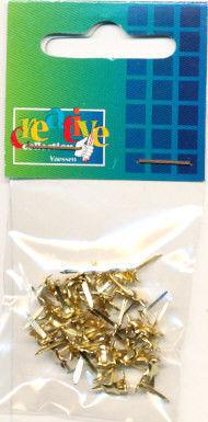 Brads ster mini goud 50 stuks 20811/037 (Locatie: K2)